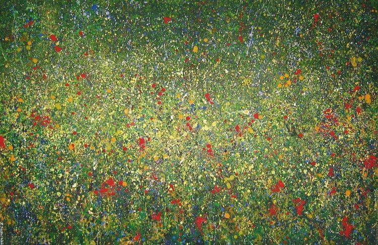 Blumen, Kornfeld, Hippie, Abstrakt, Gelb, Blumenwiese