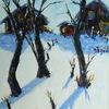 Wald, Schnee, Berge, Winter