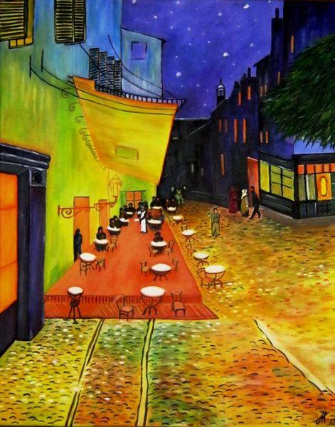Cafe, Malerei