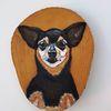 Schwarz, Hund, Malerei, Tiere