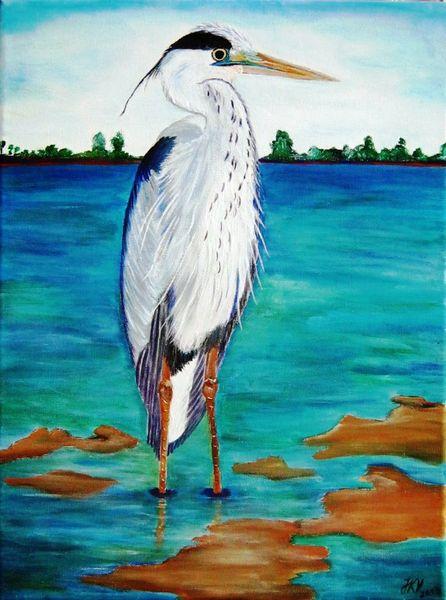Reiher, Malerei, Tiere, 2013