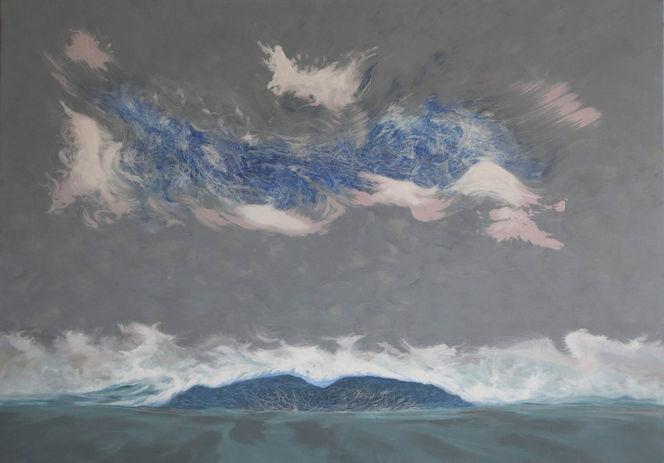 Wasserlandschaft, Malerei neu, Wasserlandschaft wasser licht, Malerei, 2011,