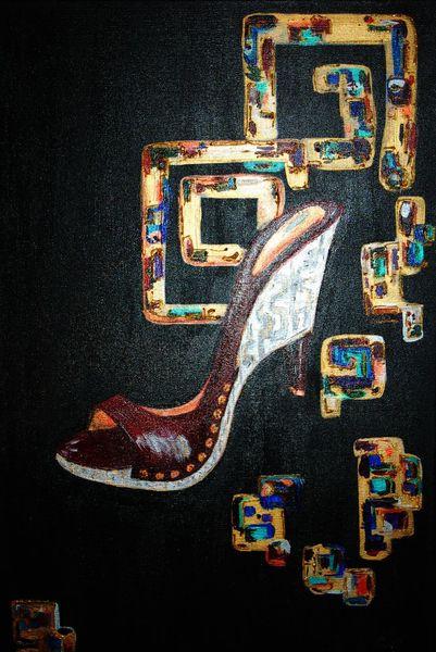 Schuhe, Bunt, Malerei
