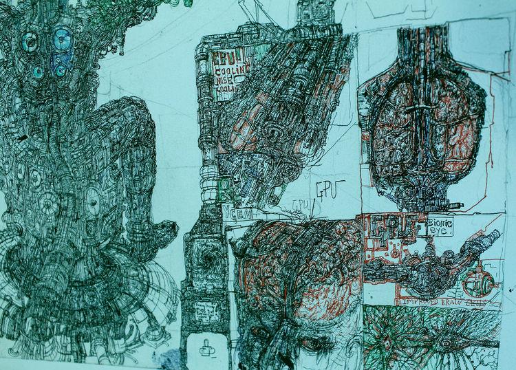 Cyberpaul, Anatomie, Zeichnungen,