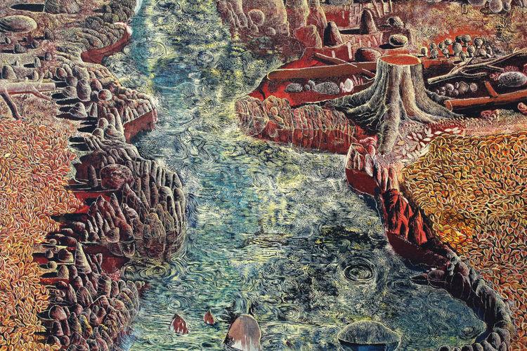 Fluss, Laubwerk, Zauberwald, Strömung, Stein, Herbstwald