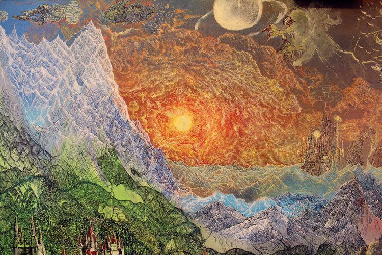 Landschaft, Sonnenuntergang, Berge, Märchen, Sonne, Fantasie