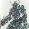 Feder und tusche, Bio mechanisch, Concept art, Doomhunter