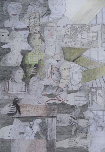 Frau, Hermeline, Dadaismus, Zeichnungen