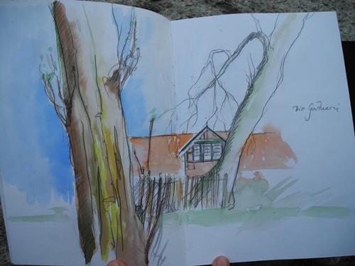 Zeichnung02, Zeichnung, Malen, Gemälde, Haus, Meer
