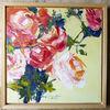 Malen, Spachtel, Rose, Frühling