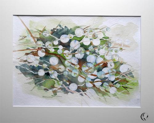Aquarellmalerei, Tautropfen, Zauberblasen, Meer, Zeichnung, Murmel