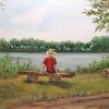 Landschaft, Ruhe, Pause, See
