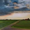 Wiese, Landschaft, Himmel, Ölmalerei