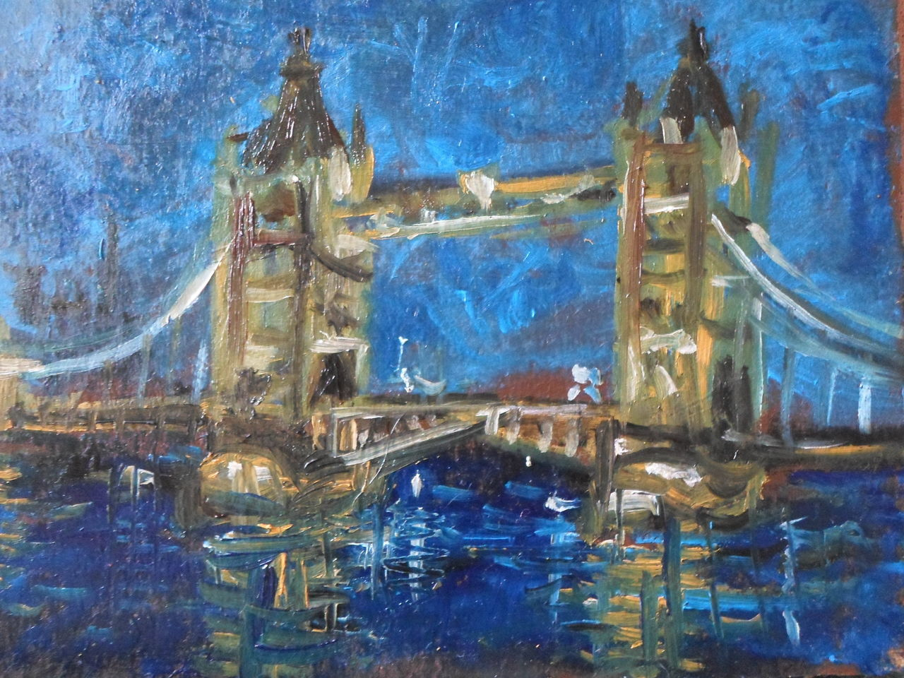 Bild london romantik br cke malerei von thies for Architektur romantik