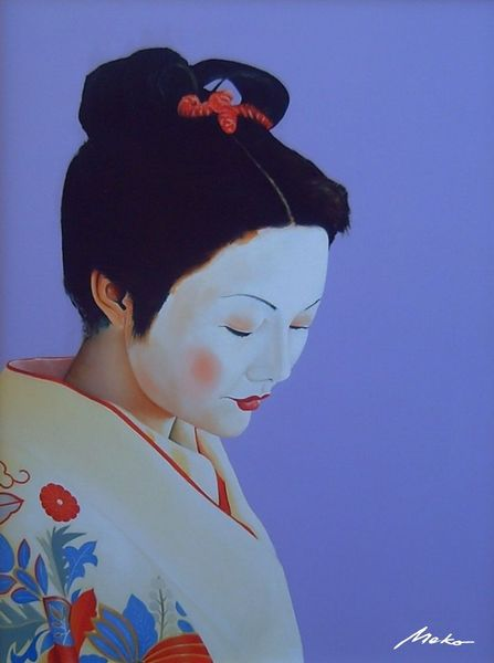 Japan, Geisha, Ölmalerei, Ukiyo, Portrait, Malerei