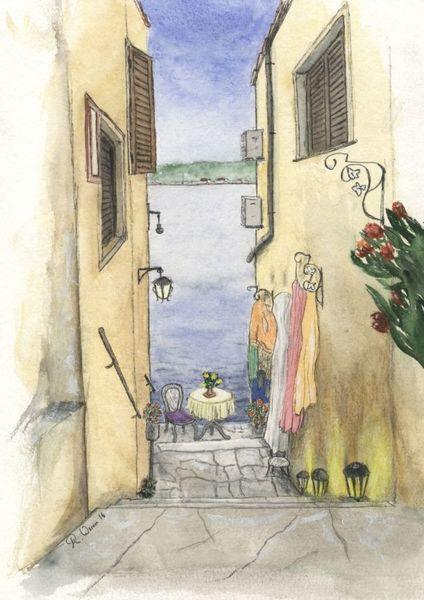 Rovinj, Kroatien, Urban sketching, Meer, Altstadt, Zeichnungen