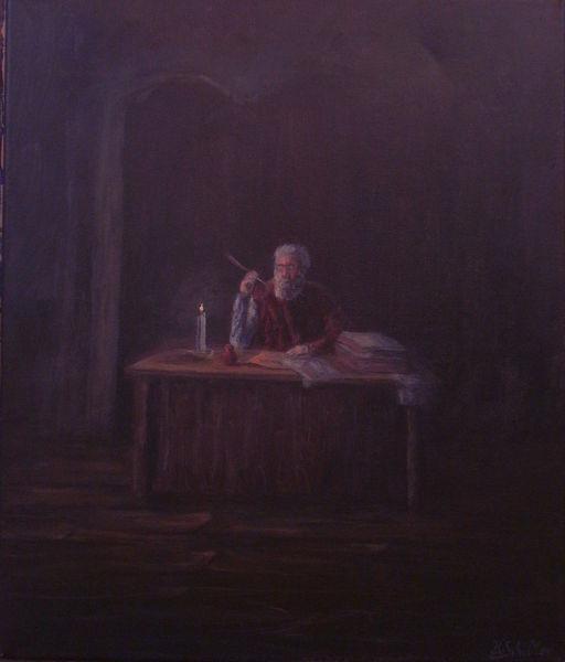 Kerzen, Acrylmalerei, Brief, Schreibtisch, Erkenntnis, Dukel