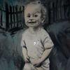 Kind, Lächeln, Licht, Malerei