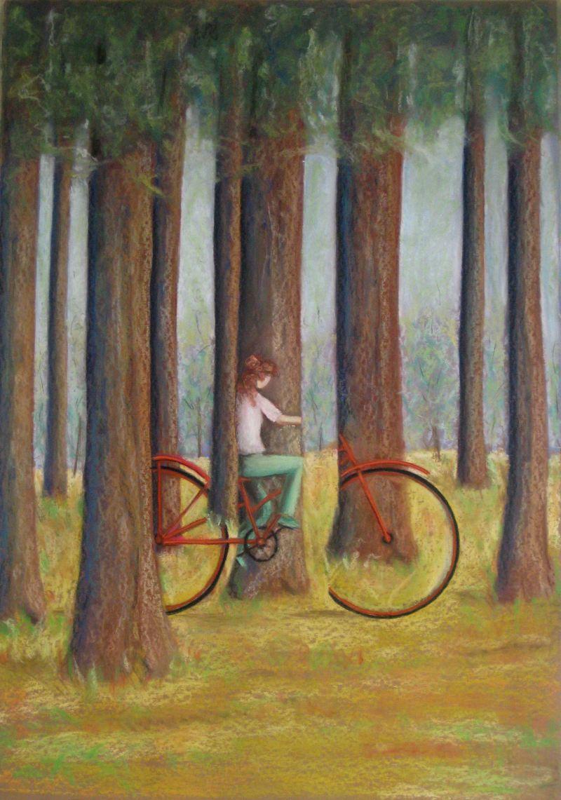 bild zeichnungen fantasie fahrrad von seiltaenzer bei kunstnet. Black Bedroom Furniture Sets. Home Design Ideas