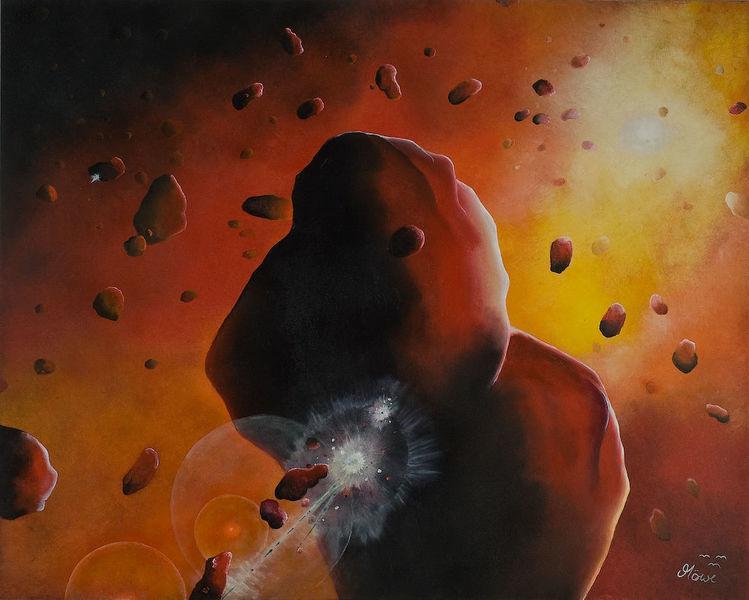 Planet, Weltall, Universum, Malerei