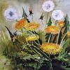 Wiese, Heilpflanze, Aquarellmalerei, Löwenzahn