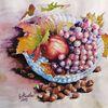 Herbstfarben, Herbst, Apfel, Aquarellmalerei