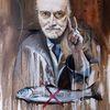 Ölmalerei, Realismus, Selbstportrait, Kritisch