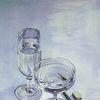 Aquarellmalerei, Wasser, Buchen odenwald, Glas