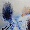 Sonne, Malerei, Winter, Advent