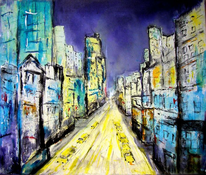 Skylines, New york, Aero color, Marmormehl, Malerei, 2014