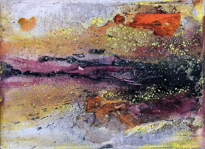 Mischtechnik, Spachteltechnik, Abstrakt, Sand, Marmormehl, Malerei
