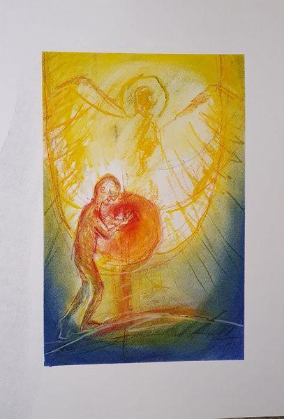 Engel, Licht, Menschen, Malerei, Gnade
