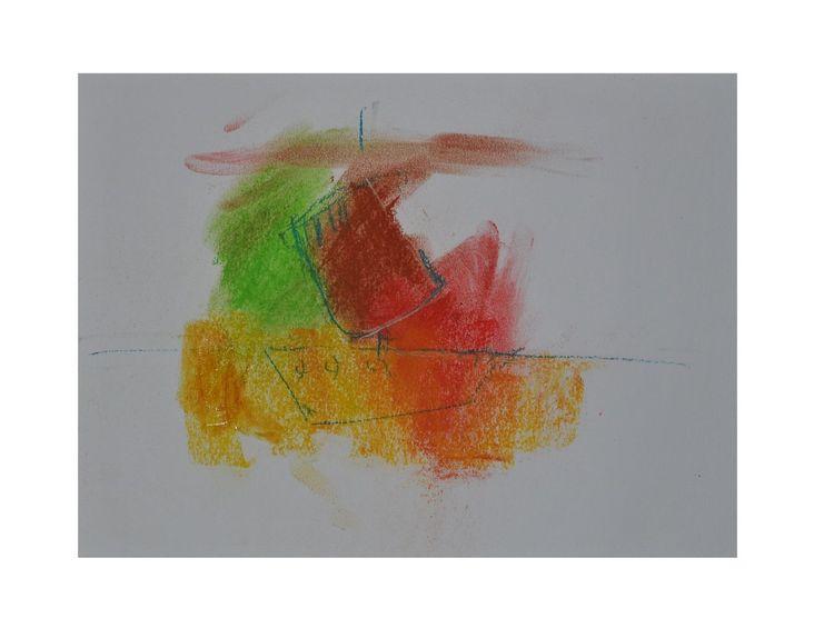 Schiff, Meer, Farben, Bunt, Malerei