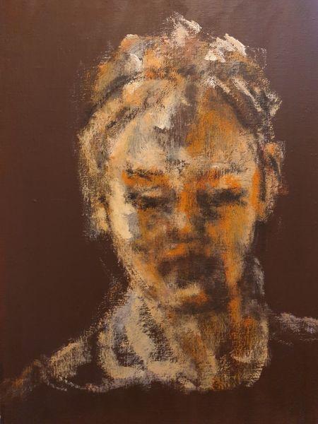 Mädchen, Erscheinung, Orange, Malerei