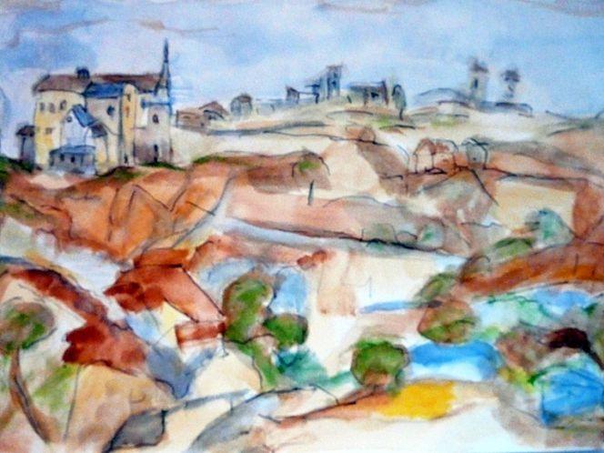 Landschaft, Aquarellmalerei, Abstrakt, Aquarell