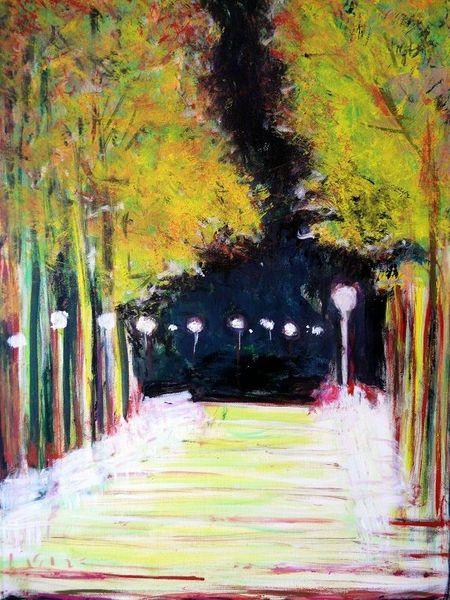 Natur, Beleuchtung, Licht, Stimmung, Park, Weisse bänke