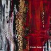 Acrylmalerei, Malerei, Rot schwarz, Gold