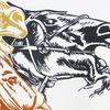 Druckgrafik, Pferde, Hochdruck, Linoldruck