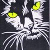 Katze, Druckgrafik, Hochdruck, Linoldruck