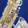 Musik, Instrument, Saxofon, Acrylmalerei