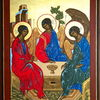 Temperamalerei, Rublev, Ikonen, Heilige dreifaltigkeit