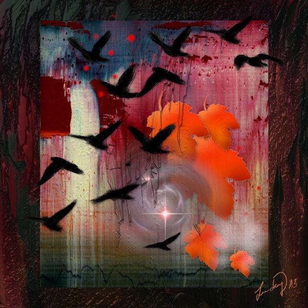 Vogel, Malerei, Blumen