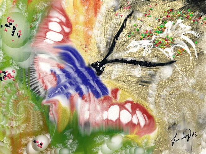 Schmetterlingsflug, Malerei
