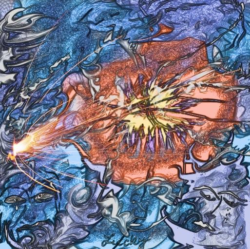 Kunstnet works digital art abstract serie 7 farbenspiele