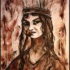 Ölmalerei, Dreckiger pinsel, Papier portarit, Malerei