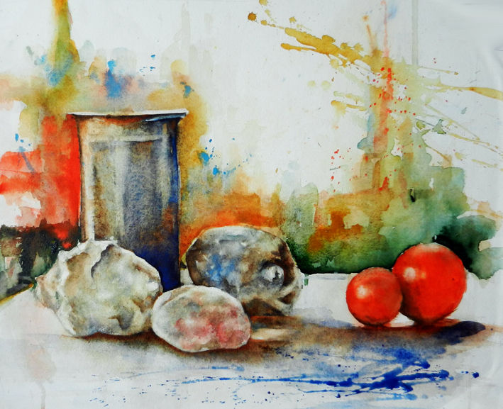 Aquarell, Stillleben