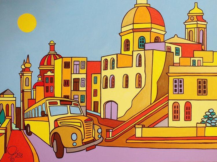 Birgu, Bus, Malta, Malerei