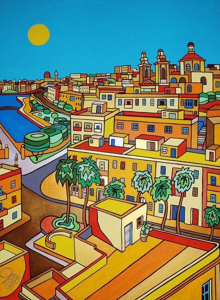 Cottonera, Malta, Malerei,