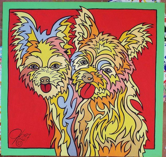 Koeter, Hund, Malerei
