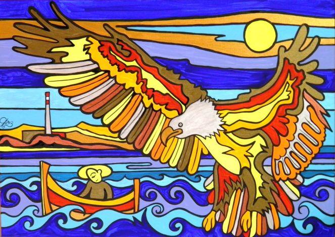 Adler, Malerei